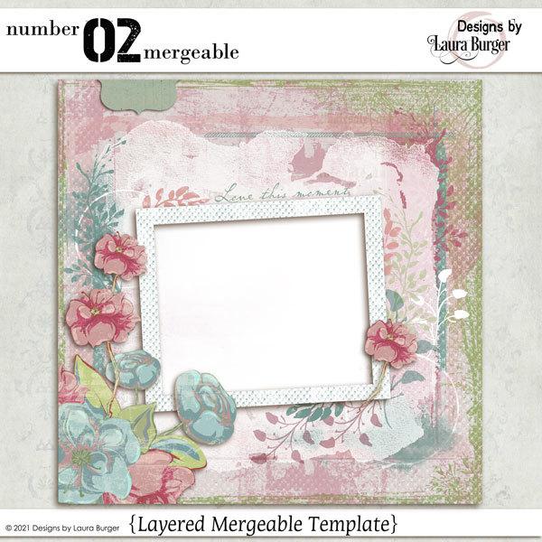 Number 02 Mergeable Digital Art - Digital Scrapbooking Kits