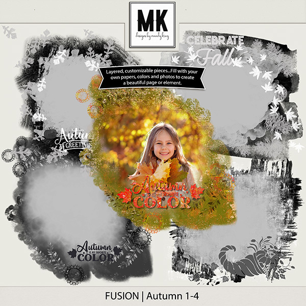 Fusion - Fall Digital Art - Digital Scrapbooking Kits