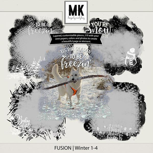 Fusion - Winter Digital Art - Digital Scrapbooking Kits
