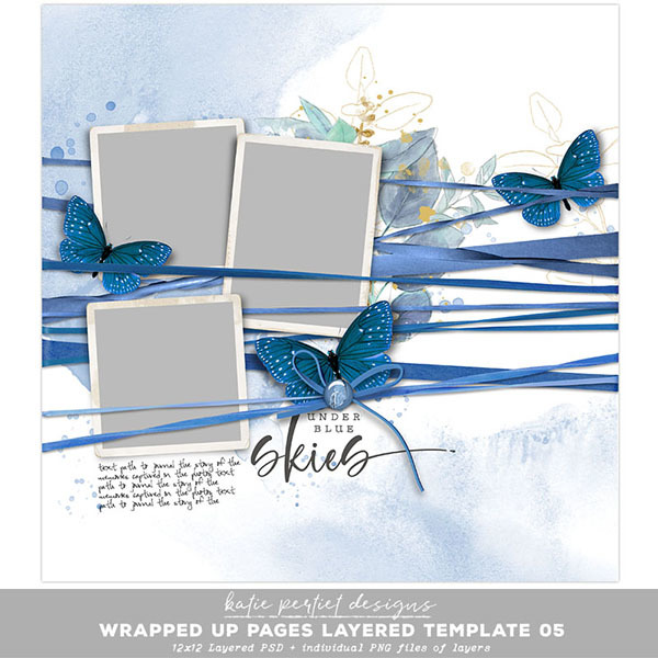 Wrapped Up Pages Layered Template 05