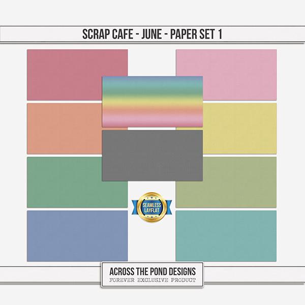 Scrap Cafe - June - Paper Set 1 Digital Art - Digital Scrapbooking Kits