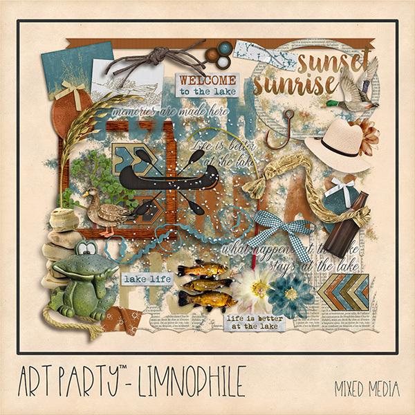 Limnophile Mixed Media Embellishments Digital Art - Digital Scrapbooking Kits