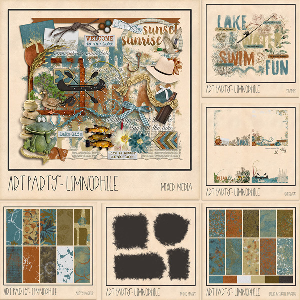 Limnophile Complete Collection Digital Art - Digital Scrapbooking Kits