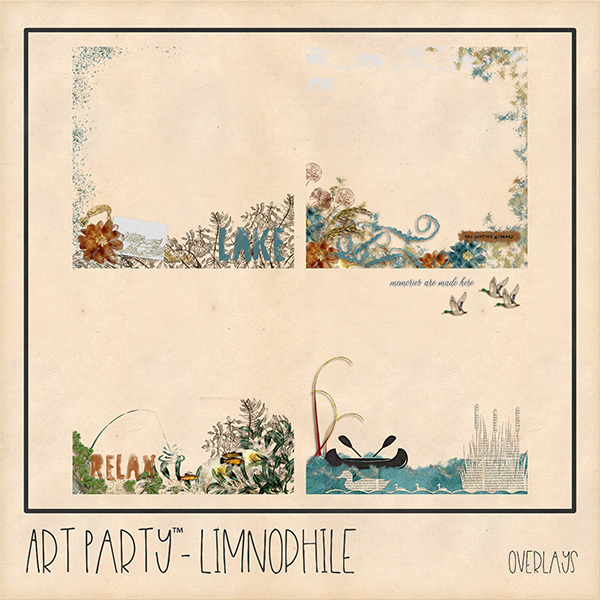 Limnophile Overlays Digital Art - Digital Scrapbooking Kits