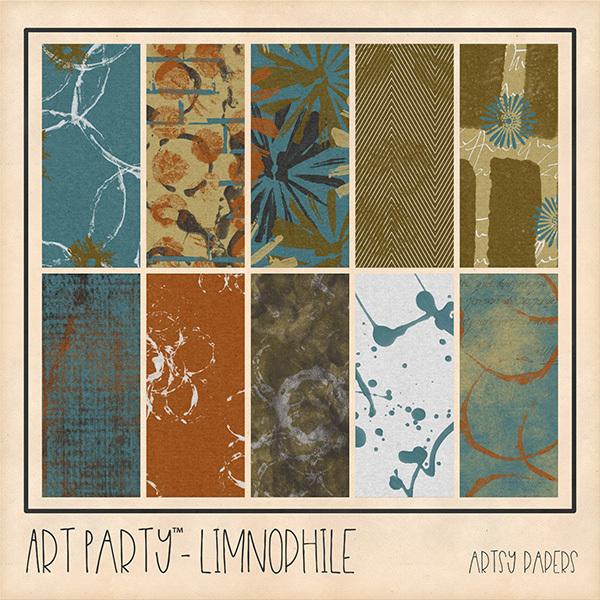 Limnophile Artsy Papers Digital Art - Digital Scrapbooking Kits