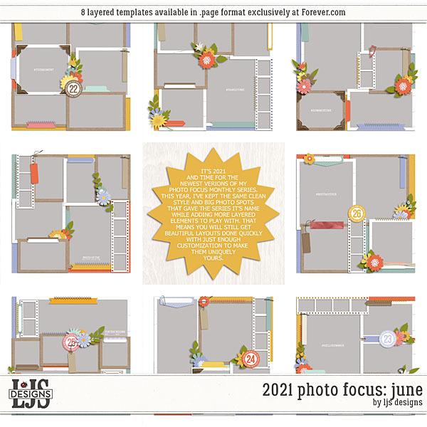 2021 Photo Focus - June Digital Art - Digital Scrapbooking Kits