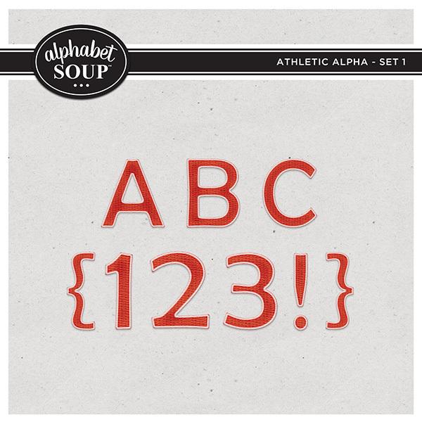 Athletic Alpha - Set 1 Digital Art - Digital Scrapbooking Kits