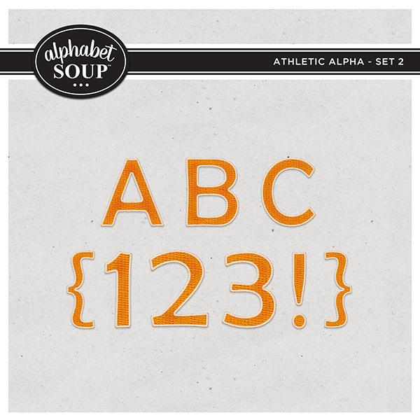 Athletic Alpha - Set 2 Digital Art - Digital Scrapbooking Kits