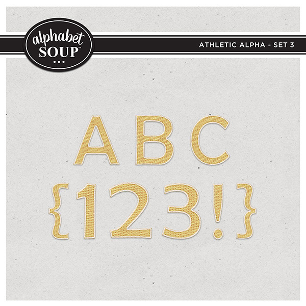 Athletic Alpha - Set 3 Digital Art - Digital Scrapbooking Kits
