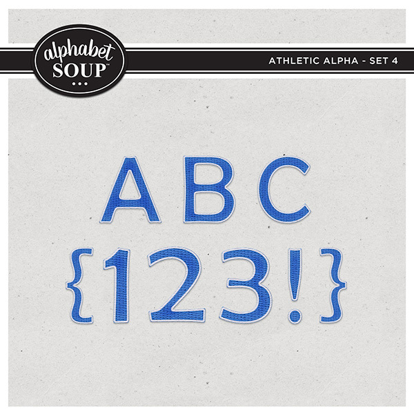 Athletic Alpha - Set 4 Digital Art - Digital Scrapbooking Kits