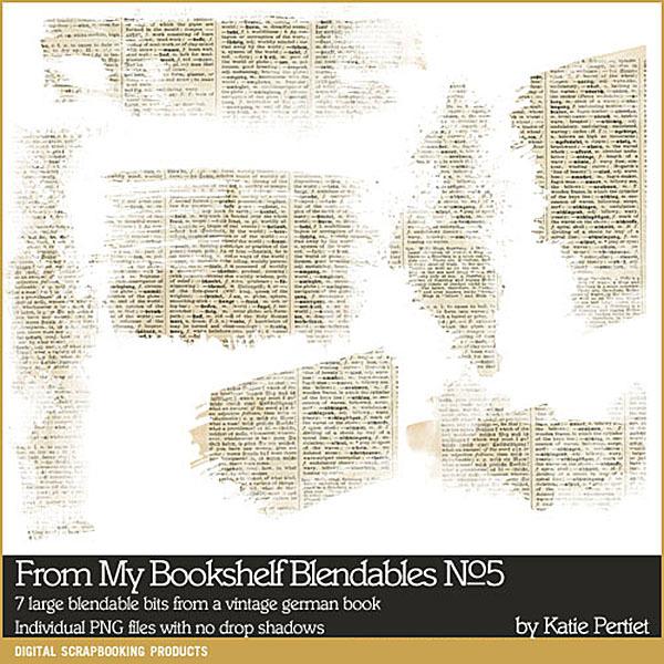 From My Bookshelf Blendables 05 Digital Art - Digital Scrapbooking Kits