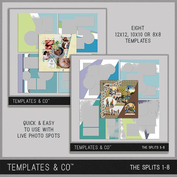 The Splits 1-8 Digital Art - Digital Scrapbooking Kits