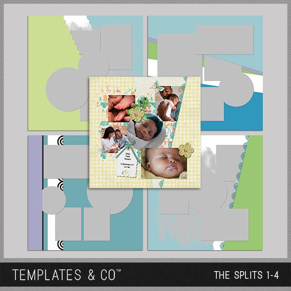 The Splits 1-4 Digital Art - Digital Scrapbooking Kits