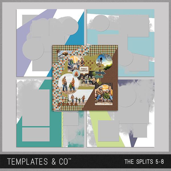 The Splits 5-8 Digital Art - Digital Scrapbooking Kits
