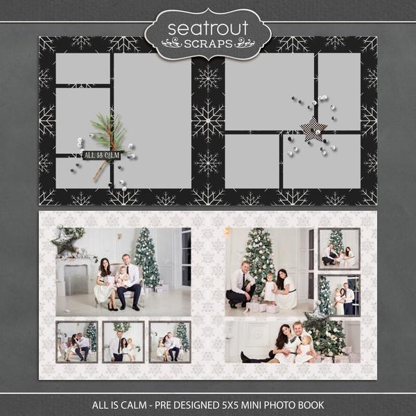 All is Calm - Pre Designed 5x5 Mini Photo Book