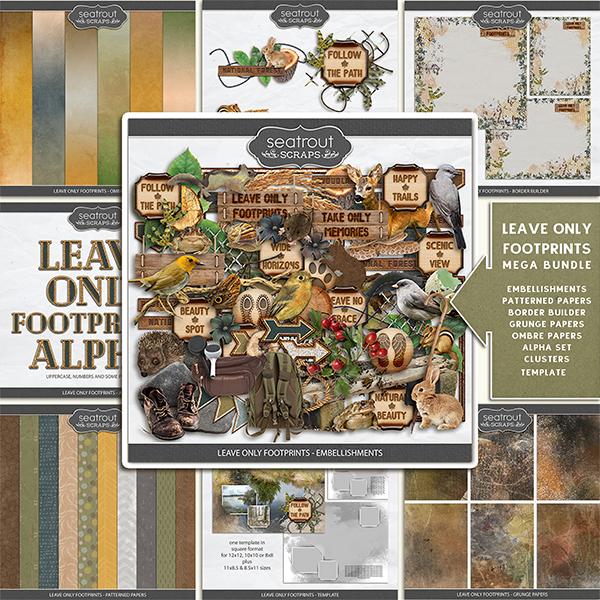 Leave Only Footprints - Mega Bundle Digital Art - Digital Scrapbooking Kits