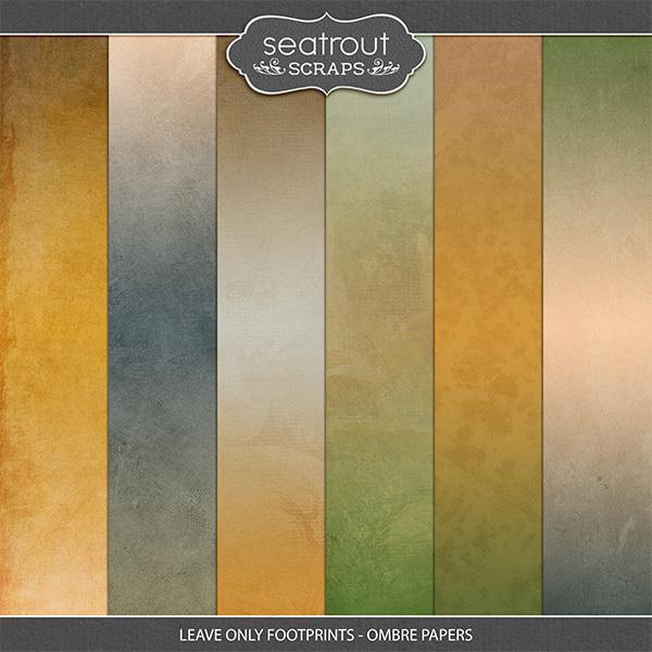 Leave Only Footprints - Ombre Papers Digital Art - Digital Scrapbooking Kits