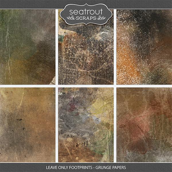 Leave Only Footprints - Grunge Papers Digital Art - Digital Scrapbooking Kits