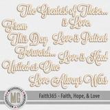 Faith365 Faith, Hope, & Love Word Art