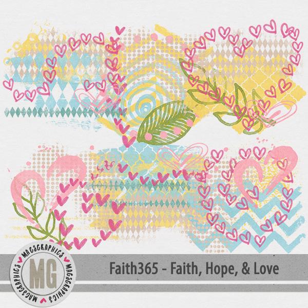 Faith365 Faith, Hope, & Love Hodge Podge Digital Art - Digital Scrapbooking Kits
