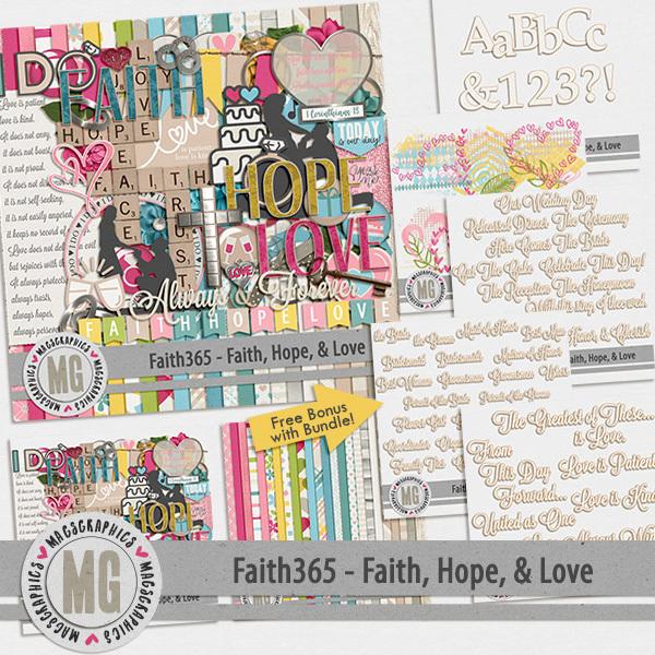 Faith365 Faith, Hope, & Love Bundle Digital Art - Digital Scrapbooking Kits
