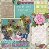 Retired Life Word Art