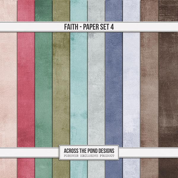 Faith Paper Set 4 Digital Art - Digital Scrapbooking Kits