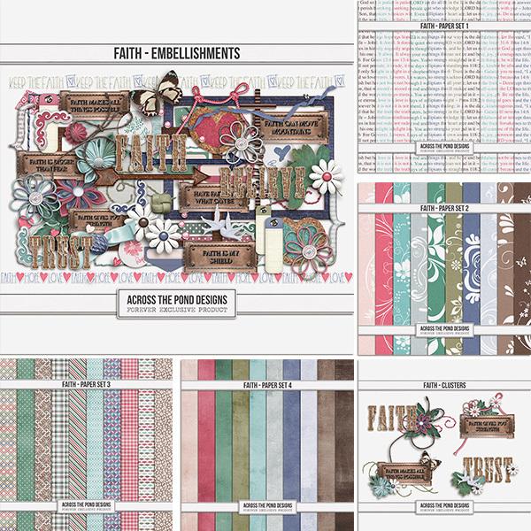 Faith Bundle Digital Art - Digital Scrapbooking Kits