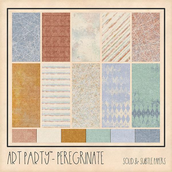 Peregrinate Solid & Subtle Papers Digital Art - Digital Scrapbooking Kits