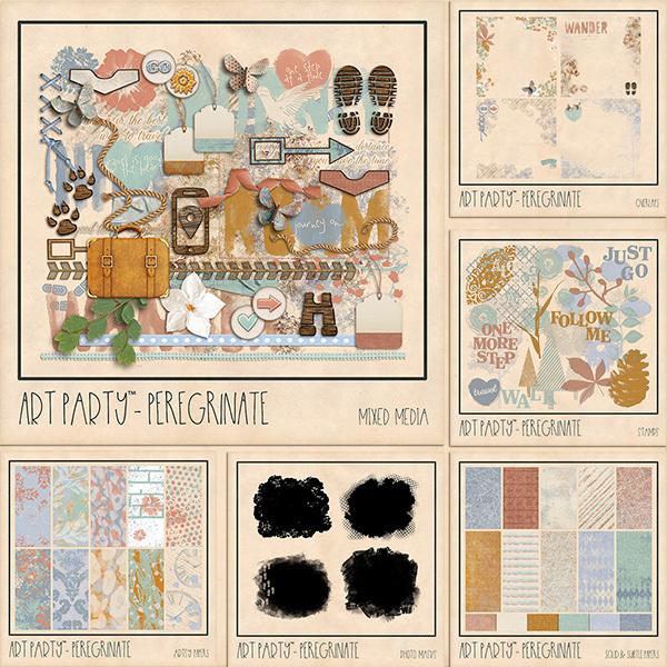 Peregrinate Complete Collection Digital Art - Digital Scrapbooking Kits