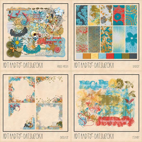 Datsuzoka Collection Digital Art - Digital Scrapbooking Kits