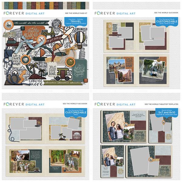 See The World Bundle Digital Art - Digital Scrapbooking Kits