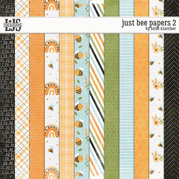 Just Be Papers 2 Digital Art - Digital Scrapbooking Kits