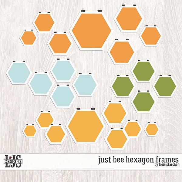 Just Bee Frames Digital Art - Digital Scrapbooking Kits