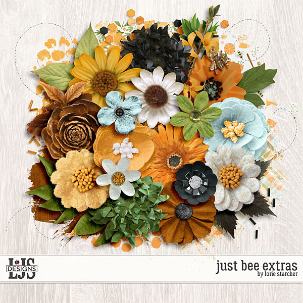 Just Bee Extras Digital Art - Digital Scrapbooking Kits