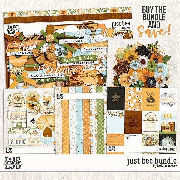 Just Bee Bundle Digital Art - Digital Scrapbooking Kits