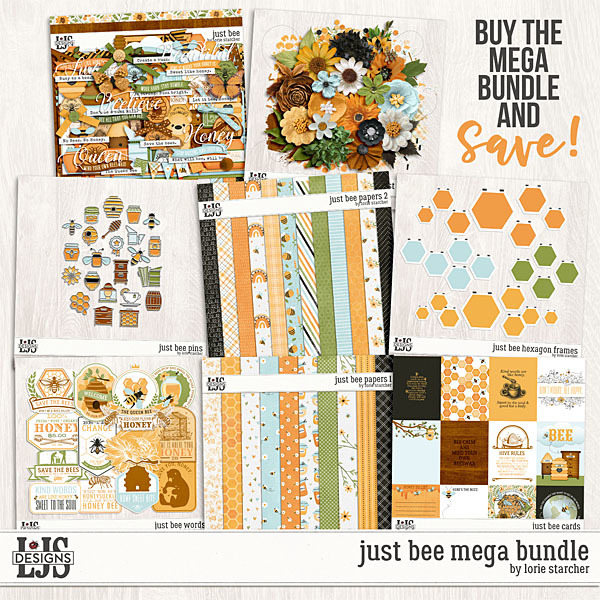 Just Bee Mega Bundle Digital Art - Digital Scrapbooking Kits