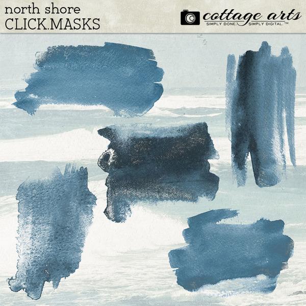 North Shore Click.Masks Digital Art - Digital Scrapbooking Kits