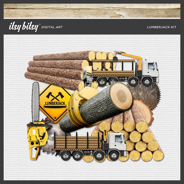 Lumberjack Kit Digital Art - Digital Scrapbooking Kits