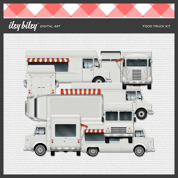 Food Truck Kit Digital Art - Digital Scrapbooking Kits