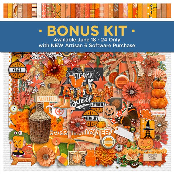 Perfect Palettes - Orange Crush Digital Art - Digital Scrapbooking Kits