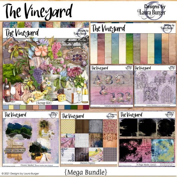 The Vineyard Mega Bundle Digital Art - Digital Scrapbooking Kits