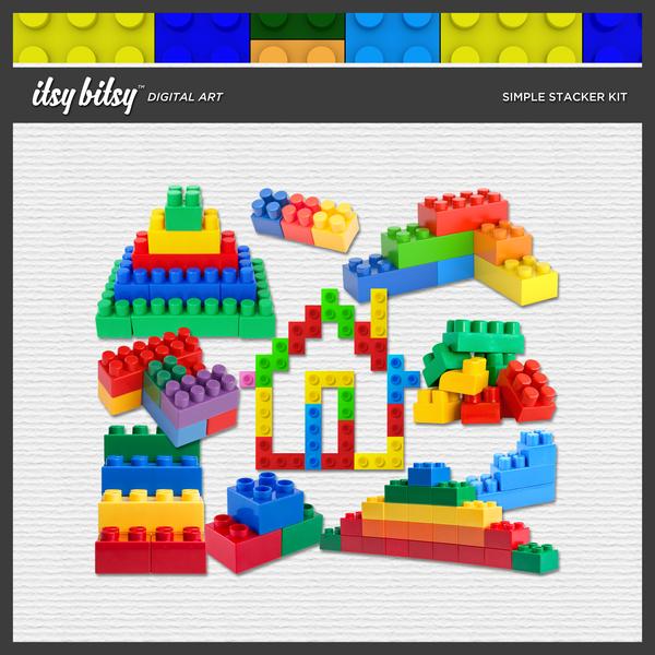 Simple Stackers Kit Digital Art - Digital Scrapbooking Kits