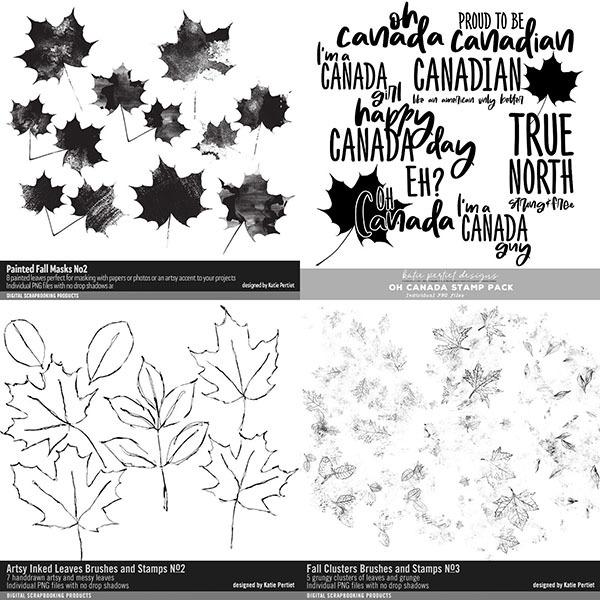 O Canada Maple Bundle Digital Art - Digital Scrapbooking Kits