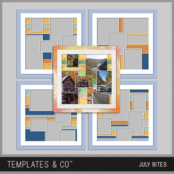 July Bites Digital Art - Digital Scrapbooking Kits