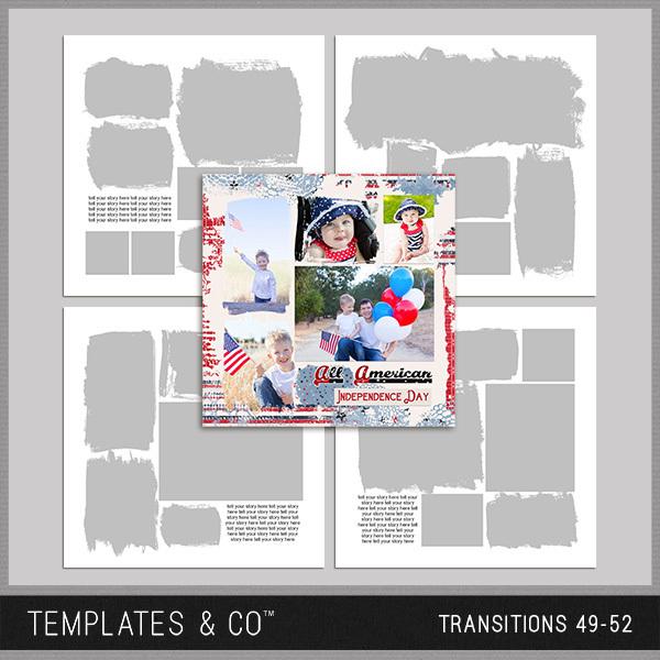 Transitions 49-52 Digital Art - Digital Scrapbooking Kits