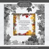 Artistic License Border Builders - Maple Leaves