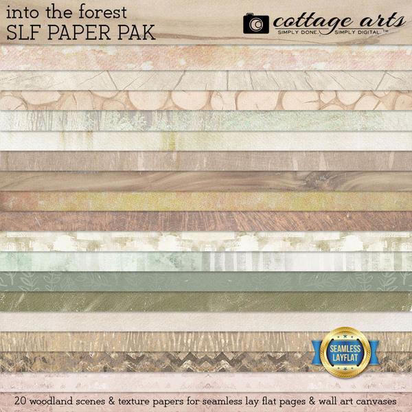 Into the Forest SLF Paper Pak Digital Art - Digital Scrapbooking Kits
