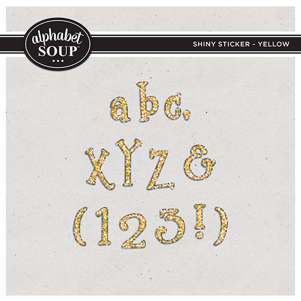 Shiny Sticker Alpha - Yellow