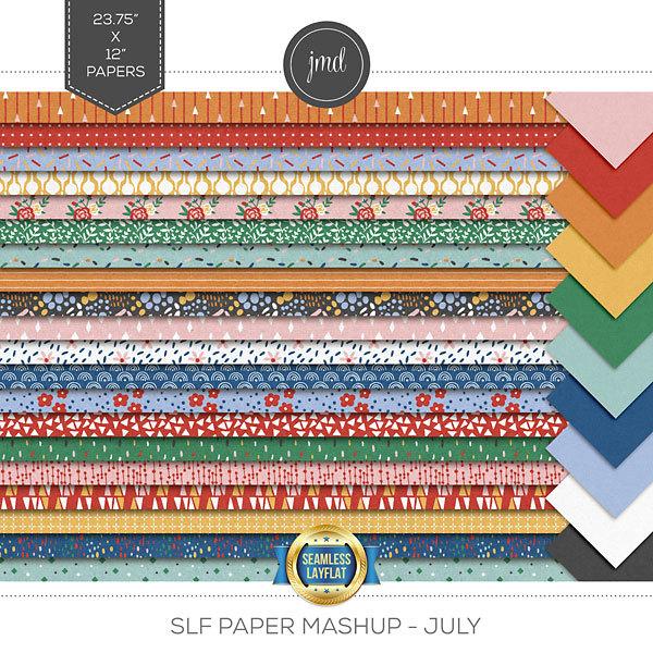 SLF Paper Mashup - July Digital Art - Digital Scrapbooking Kits